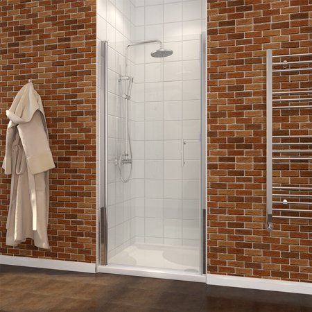 Sunny Shower Fp 30 X 72 Semi Frameless Pivot Swing Shower Glass