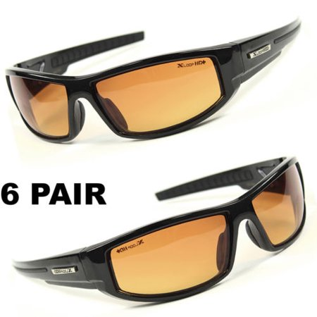 LOT SUNGLASSES WHOLESALE SPORT WRAP HD NIGHT DRIVING VISION HIGH DEFINITION r ()