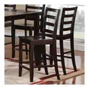 East West FC-CAP-W Fairwinds Stool Wood Seat with lader back, Cappuccino - Pack of 2