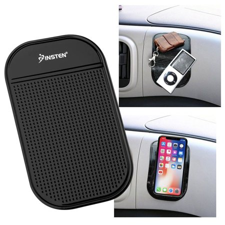 Insten Universal Magic Sticky Anti-Slip Mat Black For Apple iPhone XS X 8 7 6 Plus 6S 5 iPod Touch 6th 5th 4th 3rd 2nd Generation Nano Classic LG K7 G Stylo 3 2 Stylus Motorola Moto E4 Plus G5 G4 Play