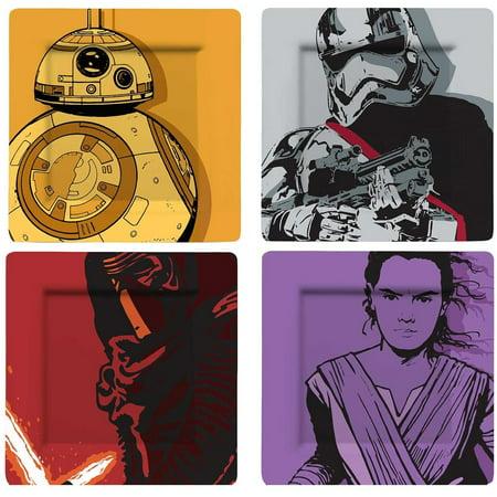Star Wars The Force Awakens Melamine 4 Pieces Plate Set - image 1 de 1