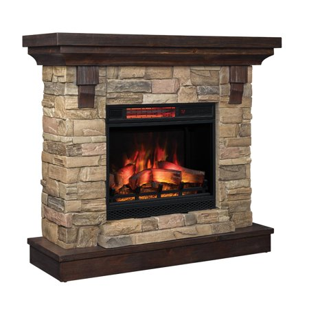 ClassicFlame Eugene 45-Inch Quartz Infrared Electric Fireplace Mantel Package