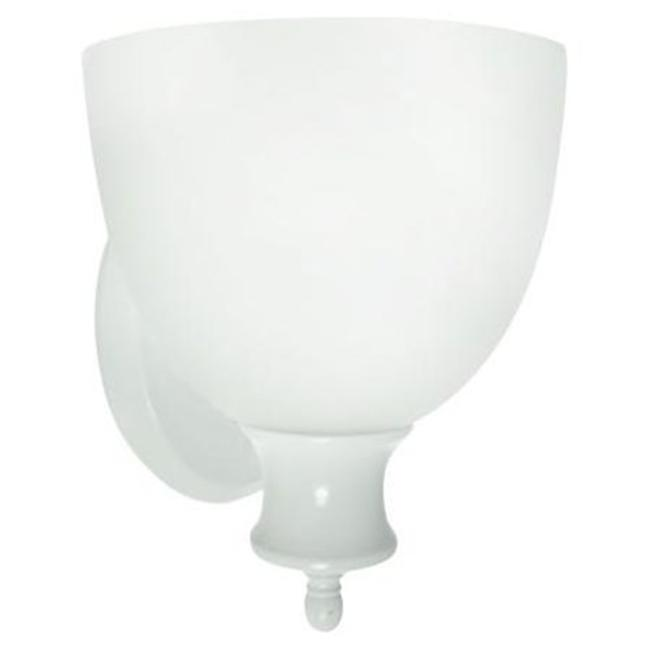 Efficient Lighting EL-303-123-W Classical Wall Sconce  Powder Coated White Finsih with Frosted Glass  Energy Star