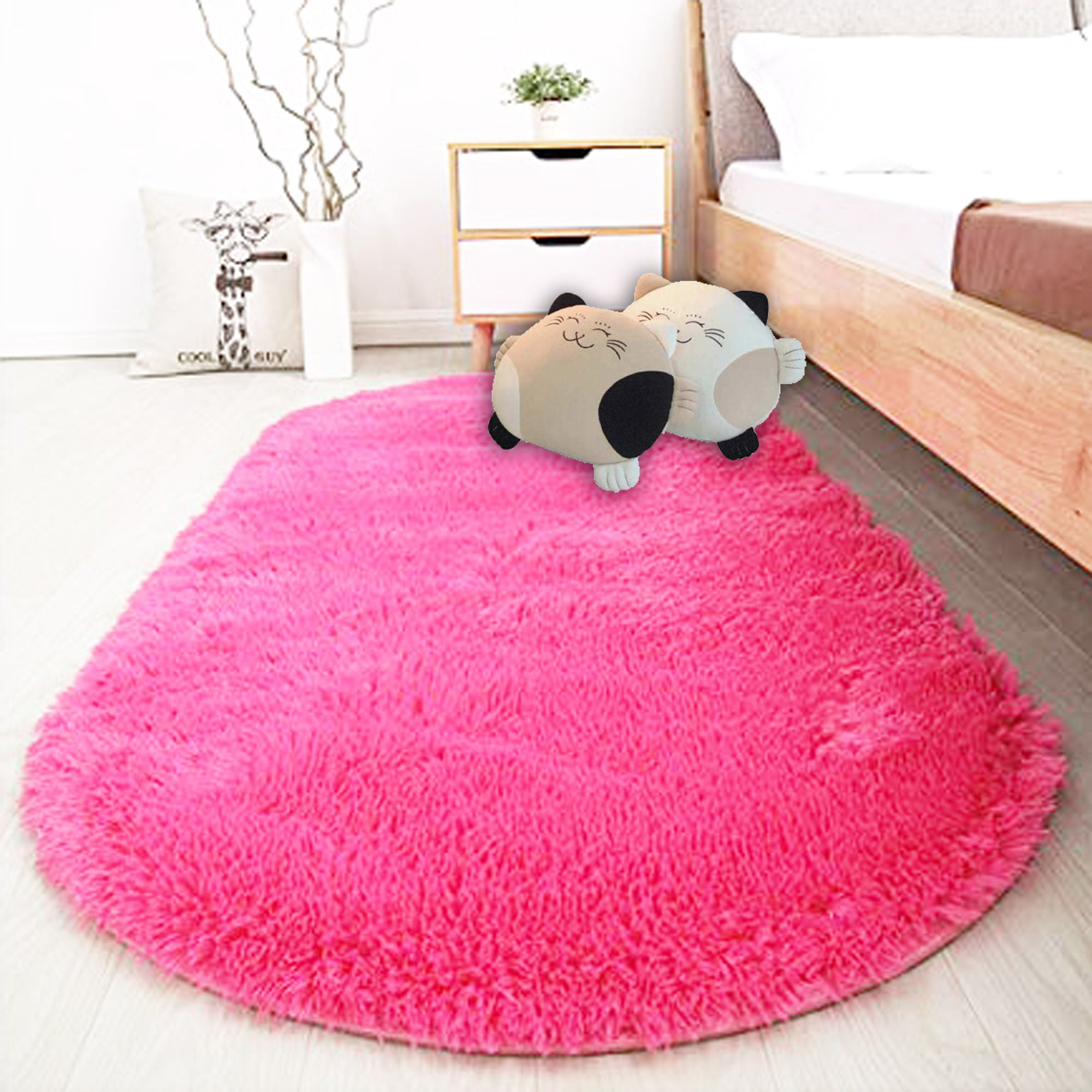 nk home 314 x 649 inches 80 x 165cm fluffy area rugs