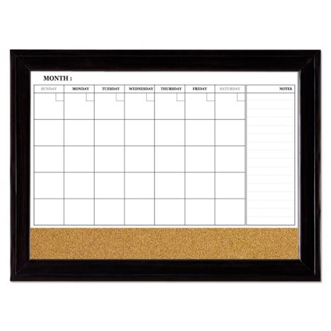 Quartet 79284 23 X 35 In Home Decor Magnetic Combo Calendar Board