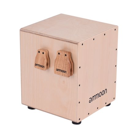 ammoon Large & Medium 2pcs Cajon Box Drum Accessory Castanets for Hand Percussion Instruments - image 4 of 7