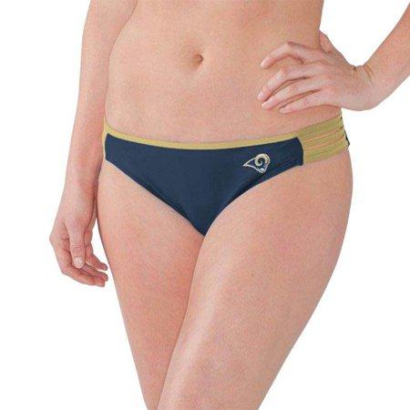 Los Angeles Rams G-III 4Her by Carl Banks Women's Outfielder Bikini Bottom - Navy/Gold