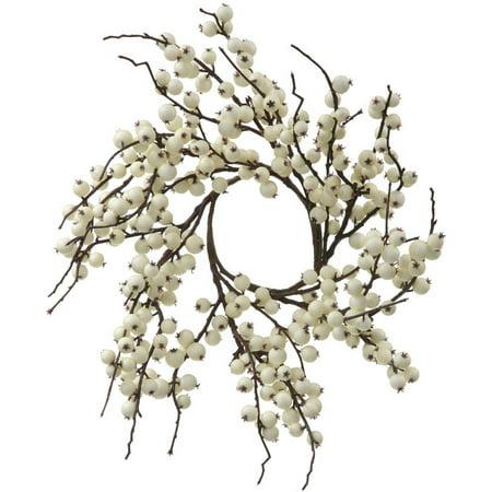 Vickerman 18 White Wild Berry Artificial Christmas Wreath