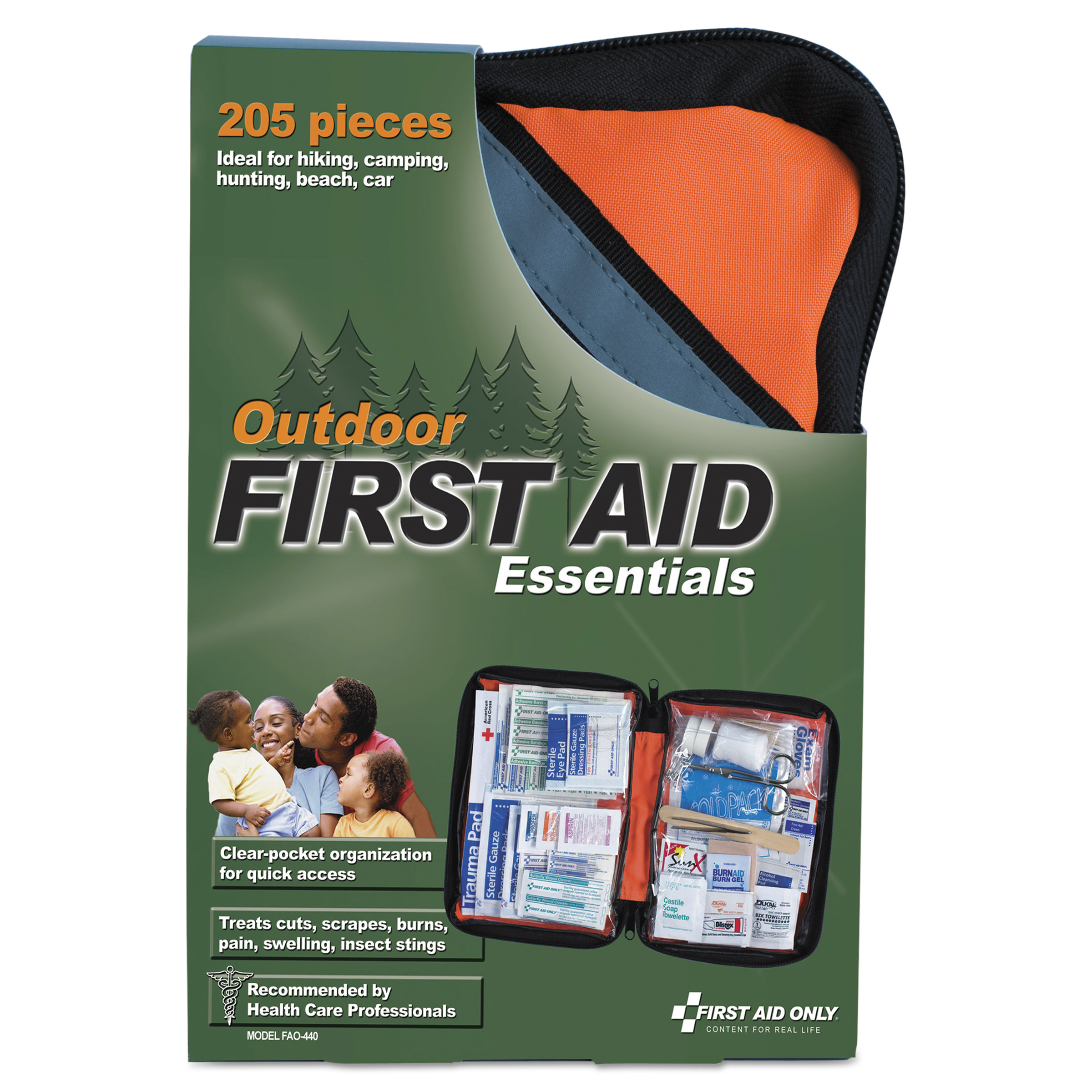 First Aid Only Outdoor Softsided First Aid Kit for 10 People, 205 Pieces Kit by FIRST AID ONLY, INC.
