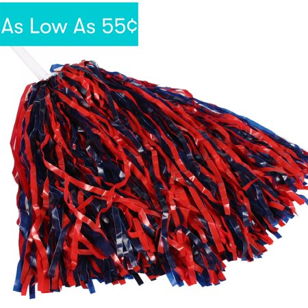Spirit Pom Poms (1 pack) (Red And Blue Pom Poms)