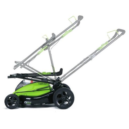 Greenworks 19-Inch 40V Cordless Lawn Mower, 4.0 AH & 2.0 AH Batteries Included 2500502