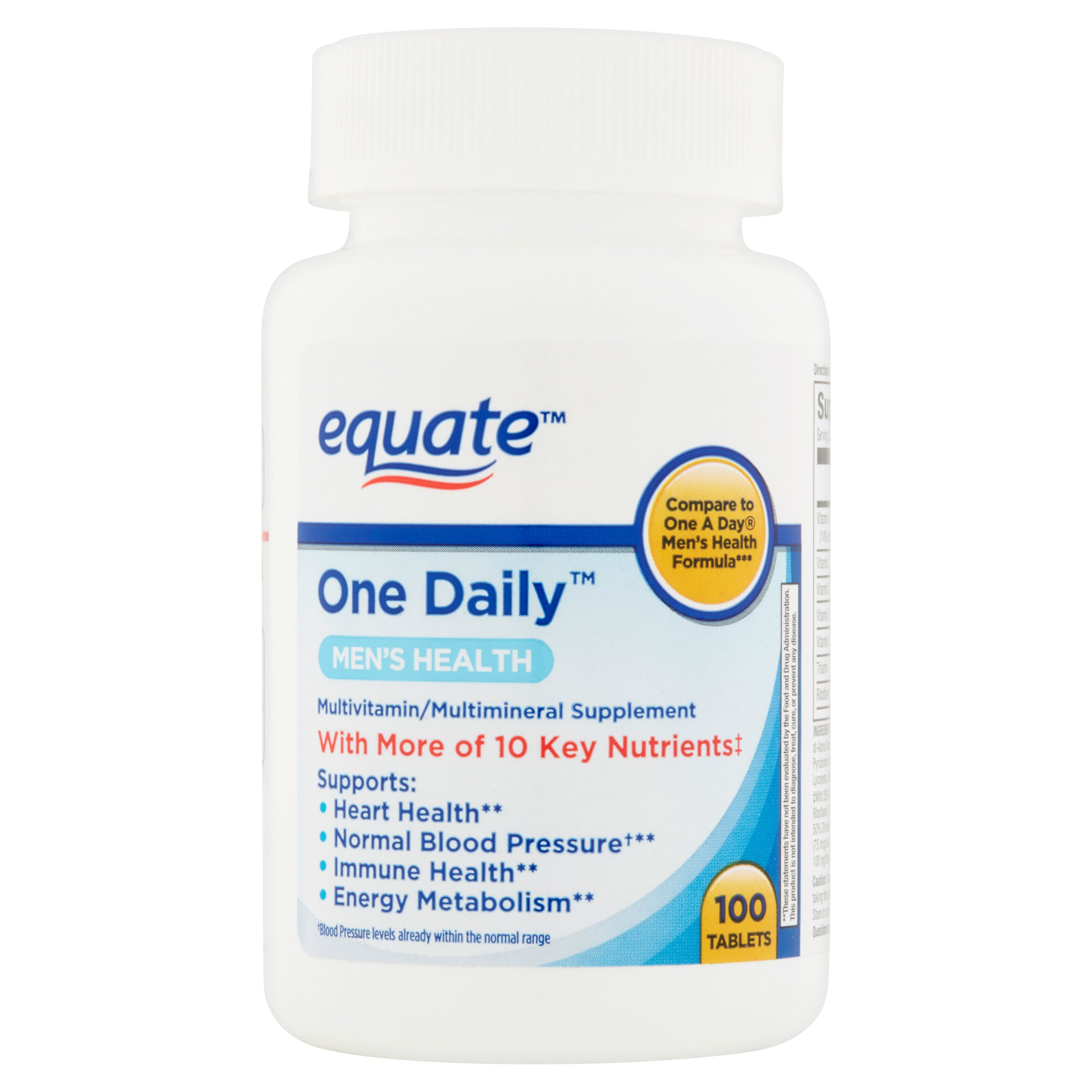 (2 Pack) Equate one daily mens 100 ct
