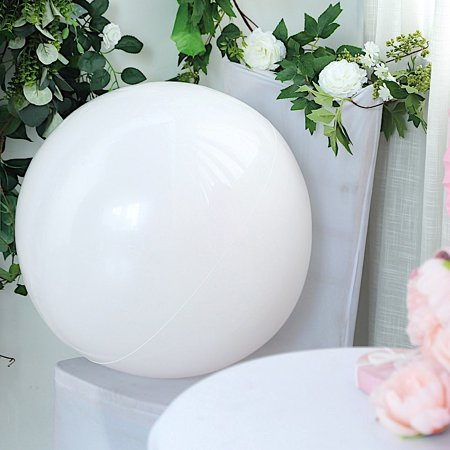 BalsaCircle 2 pcs 30-Inch wide Large Round Vinyl Balloons - Wedding Event Birthday Reception Party Wholesale Decorations Supplies - Black And White Decorations For Wedding Reception