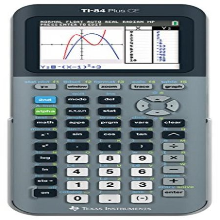 Texas Instruments Ti 84 Plus Ce Silver Graphing Calculator