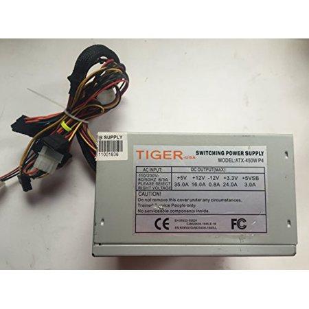 Tiger-USA 450W Switching Power Supply- ATX-450W P4 - Refurbished ...