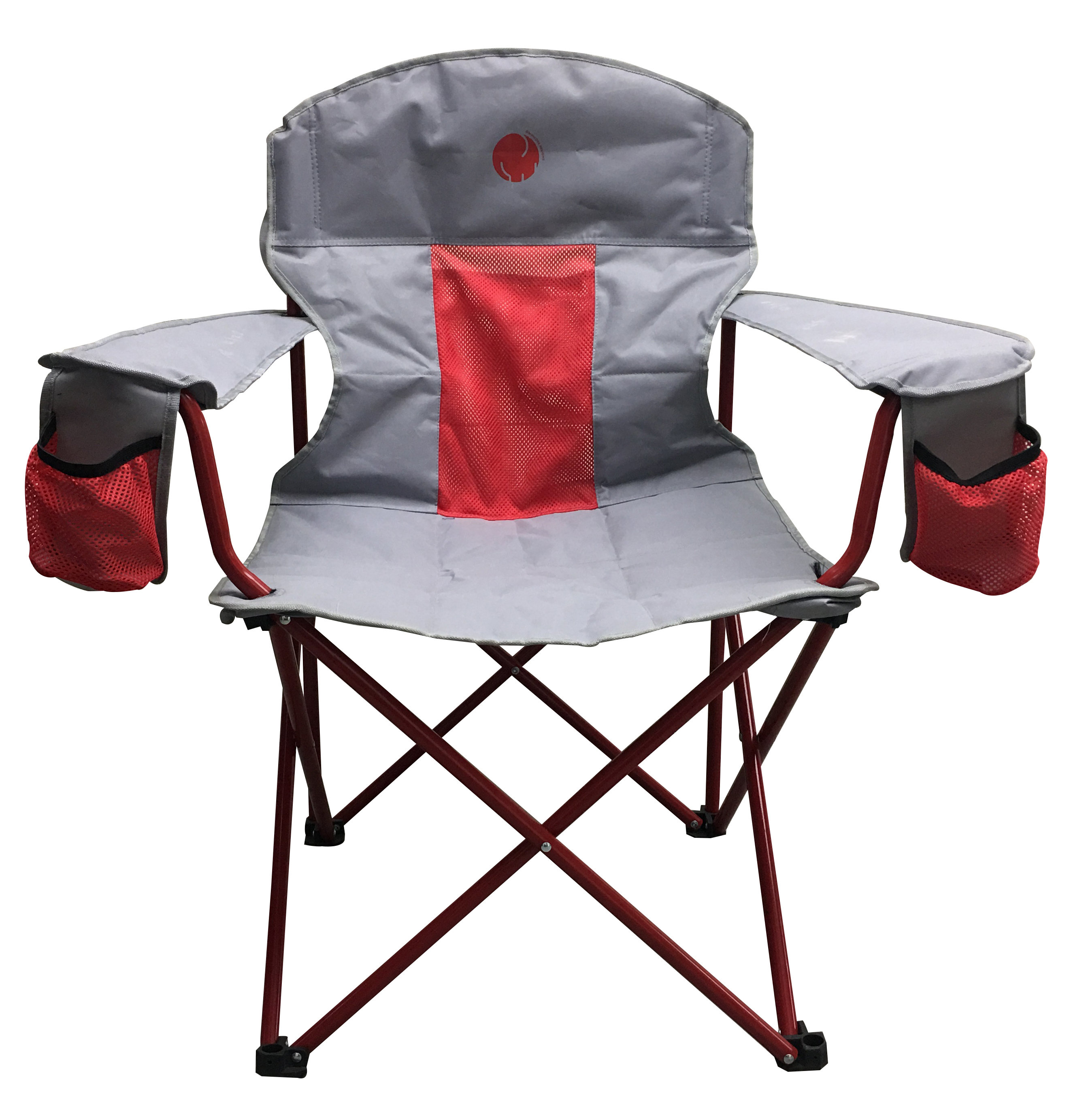 OmniCore Designs New Standard: Oversized Heavy Duty Padded Mesh Quad Folding Camp Chair (300 lb. Capacity)