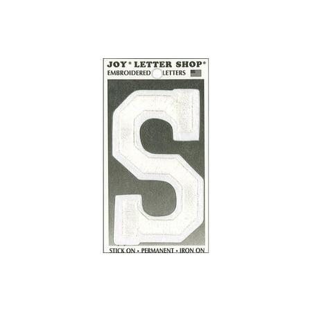 Joy Applique Letter Iron On Varsity 3