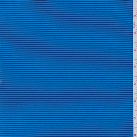 Blue Striped Fabric - Aqua Blue Textured Stripe Activewear, Fabric Sold By the Yard