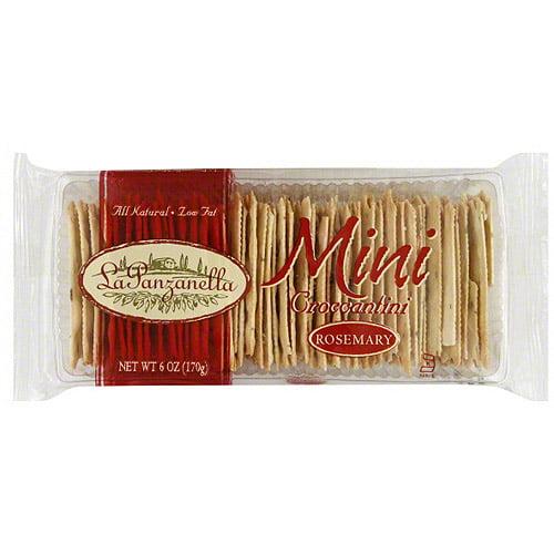 La Panzanella Mini Croccantini Rosemary Crackers, 6 oz (Pack of 12)