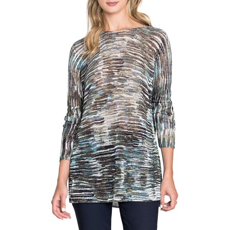 7d1042850 NIC+ZOE - Meadow Knit Long-Sleeve Top - Walmart.com