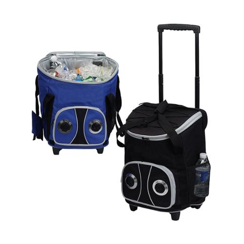 Goodhope 48-can Rolling Speaker Cooler Blue