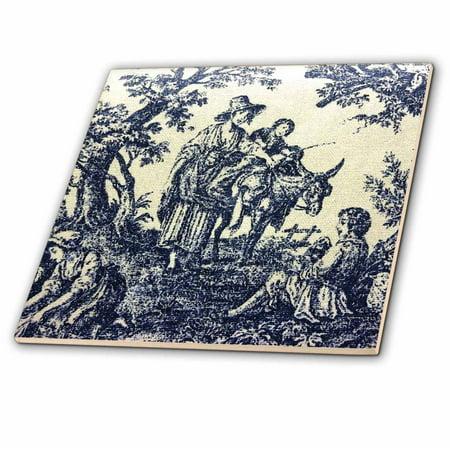 3dRose Antique French Scene - Ceramic Tile, 6-inch