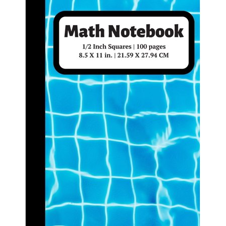 Graph Paper Notebooks: Math Notebook: 1/2 inch Square Graph Paper for Students and Kids, 100 Sheets (Large, 8.5 x 11) (Paperback)