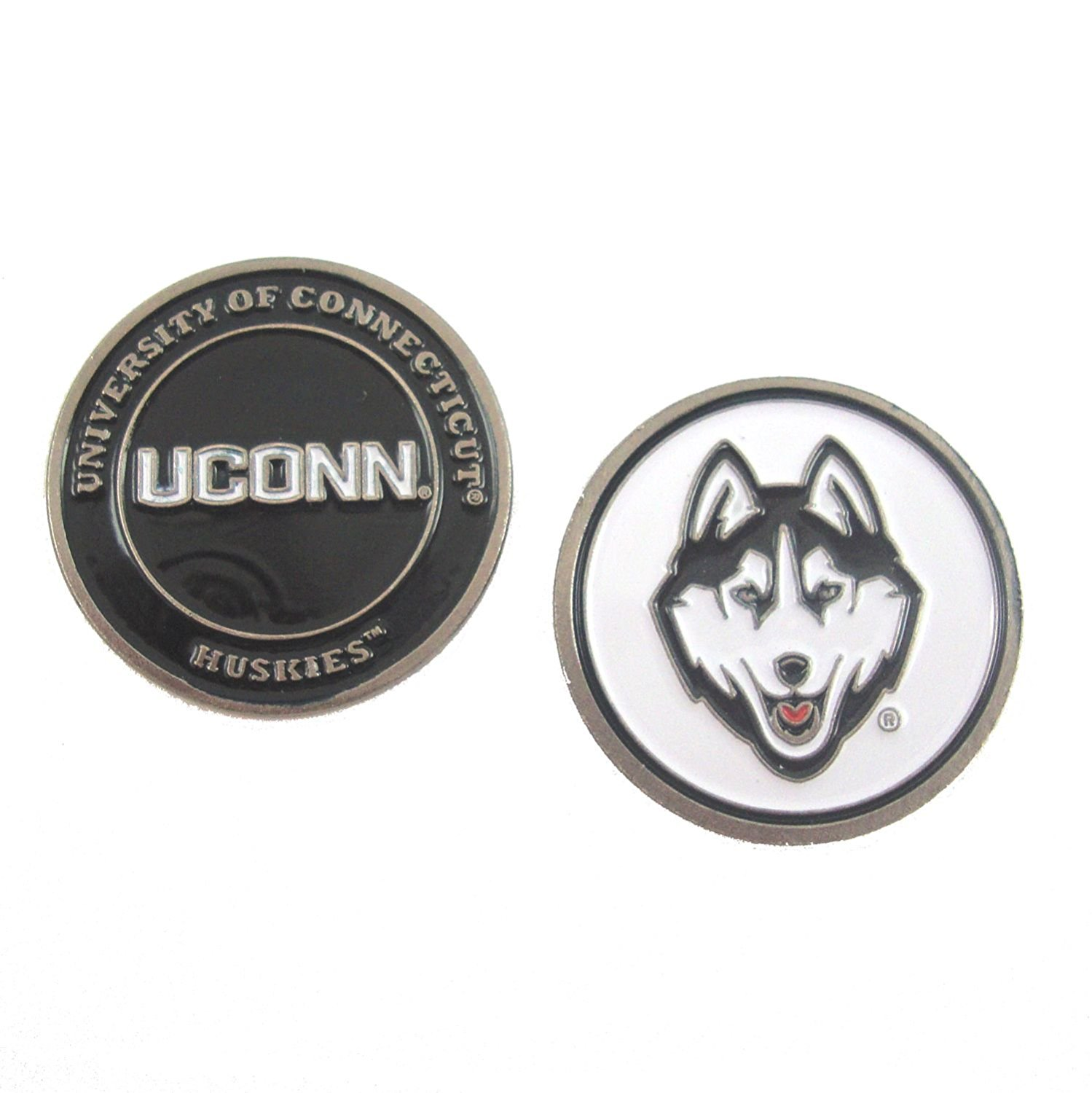 UConn Huskies Double-Sided Golf Ball Marker, University of Connecticut Golf Ball Marker By Waggle Pro Shop,USA