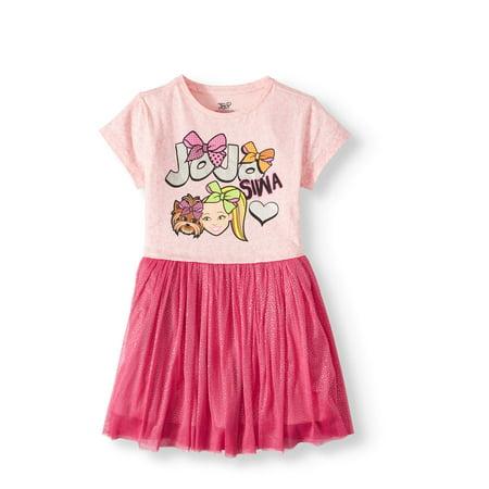 Girls Dresses On Sale (Jojo Siwa Foil Mesh Tulle Dress (Little Girls & Big)