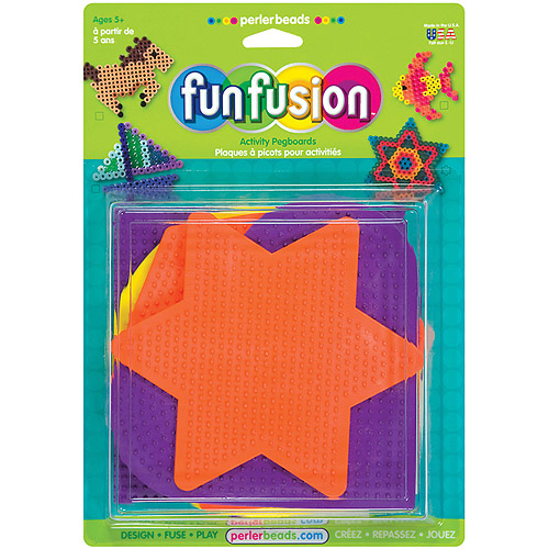 Perler Fun Fusion Bead Pegboards, 5-Pack, Large Shapes
