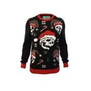 Ugly Christmas Sweater Men's Xmas Skulls With Jingle Bells Sweatshirt