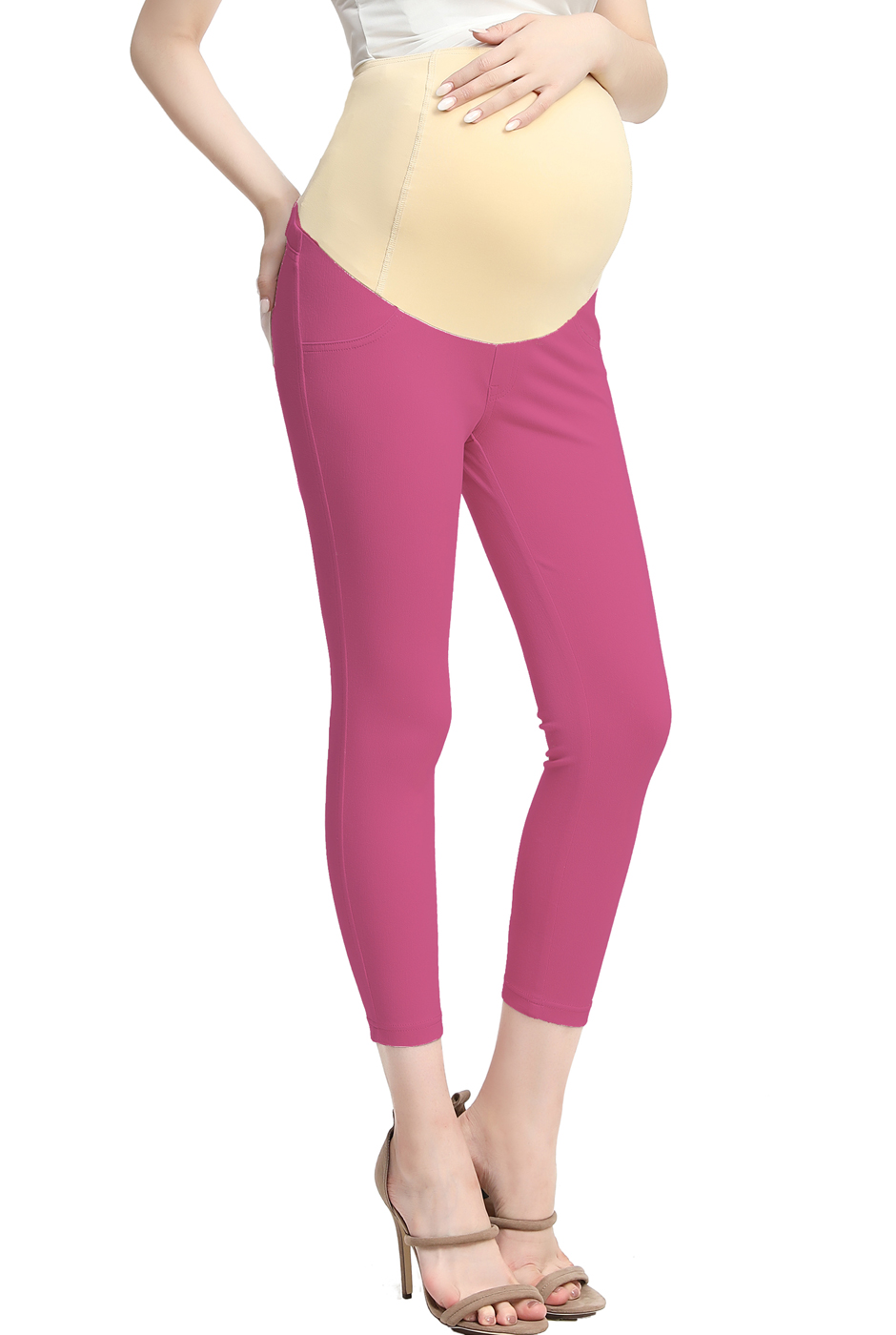 Maternity Women's Cropped Jeggings - Berry L