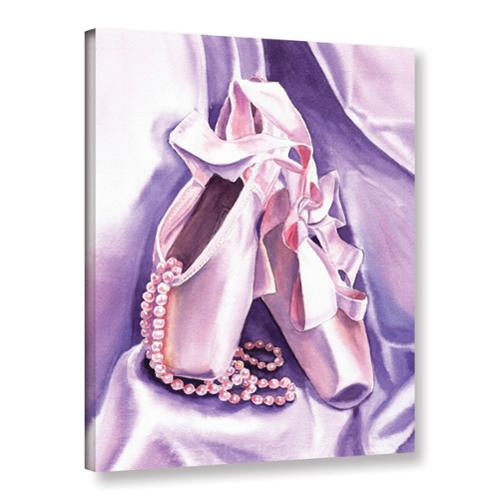 ArtWall  'Irina Sztukowski's Ballet Shoes Dancing Pearls' Gallery Wrapped Canvas