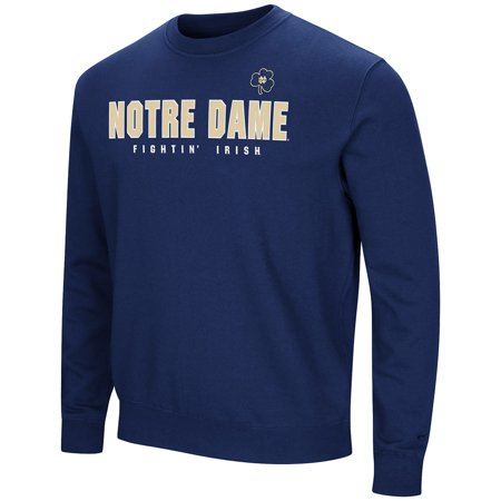Fleece Notre Dame Irish Jacket - Colosseum NCAA Men's Playbook Crewneck Fleece Sweatshirt