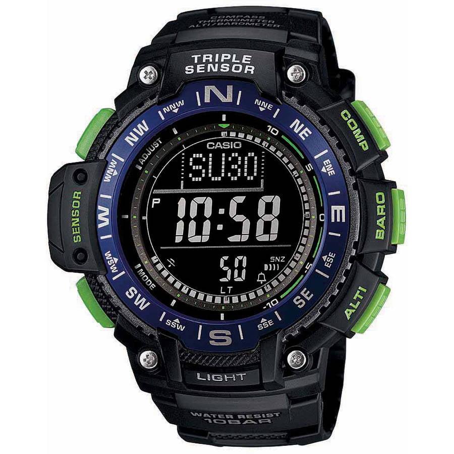 Casio Men's Triple Sensor Compass Watch, Black Dial