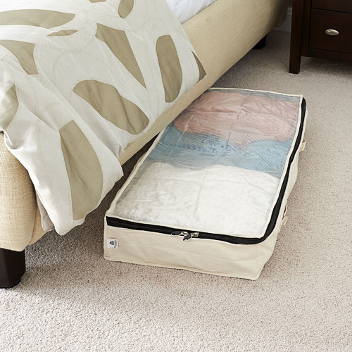 Household Essentials Cedarline Zippered Canvas Underbed Storage Chest