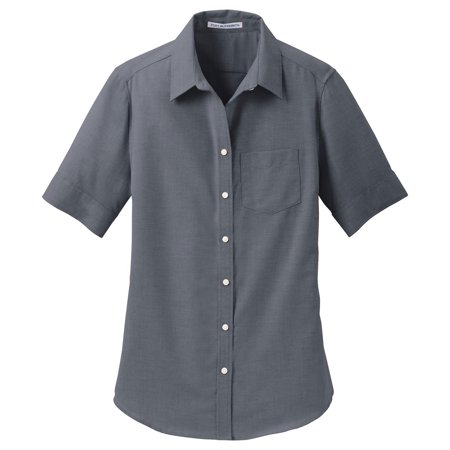 Port Authority Women's Short Sleeve SuperPro Oxford