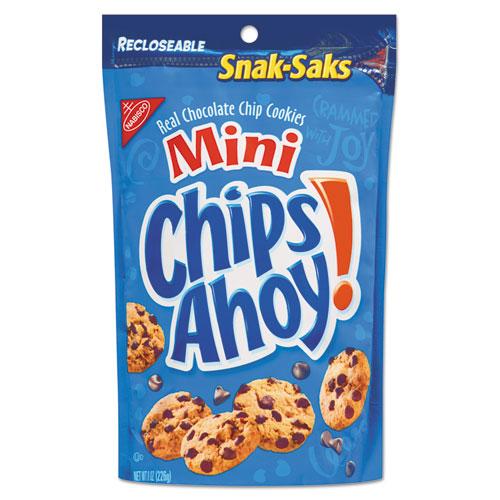 Chips Ahoy Cookies, Chocolate Chip, 8 oz Snak Sak CDB07133
