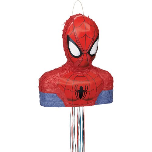 Spiderman Pinata Shaped Pull String Walmart Com