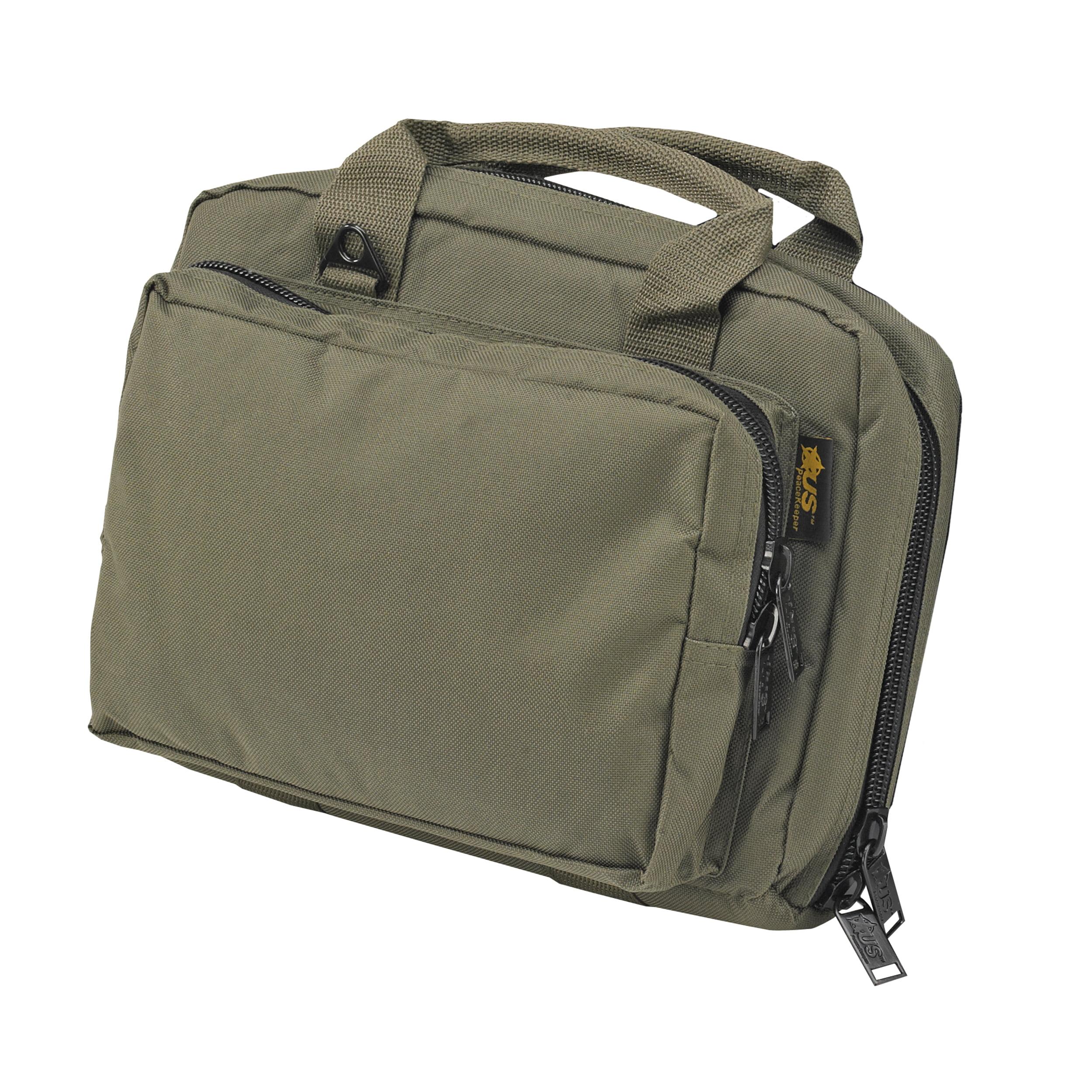 US Peacekeeper P21106 Mini-Range Pistol Bag with Strap, Pistol, OD Green