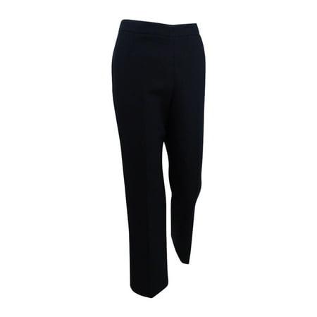 Petite Washed Linen - Kasper Women's Petite Linen Side Zip Pant