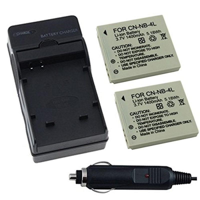 Two Halcyon 1400 mAh Batteries and Charger Kit for Canon ...