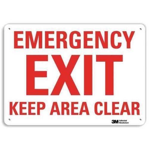 LYLE U7-1080-RA_14X10 Safety Sign, Reflctv Alumi, 14inH x 10inW