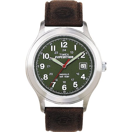 Timex Mens Expedition Metal Field Watch  Brown Leather Strap