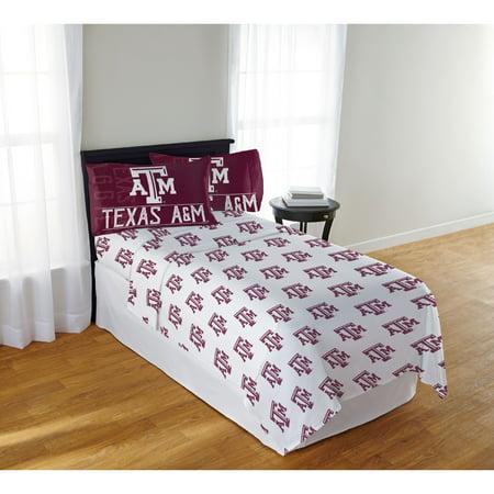 NCAA Texas A&M Aggies Affiliation Full Sheet Set, 1 Each (Texas A&m University Aggies Bedding)