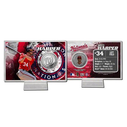 MLB - Bryce Harper Washington Nationals Silver Coin Card