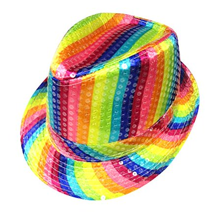 Adult Rainbow Striped Hat By Dress Up America - Adult Dress Up Ideas