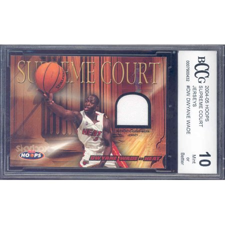 (2004-05 hoops supreme court jerseys #dw DWYANE WADE heat BGS BCCG 10)
