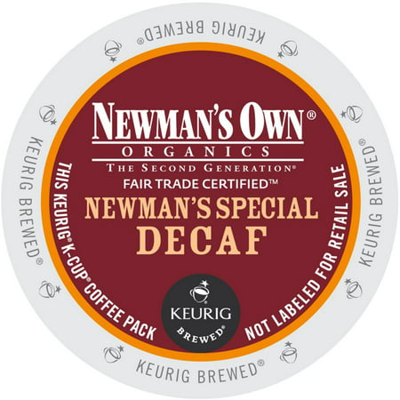 Newman's Own Organics Newman's Special Decaf Coffee, K-Cup Portion Pack for Keurig Brewers (24 Count) (1x16oz)