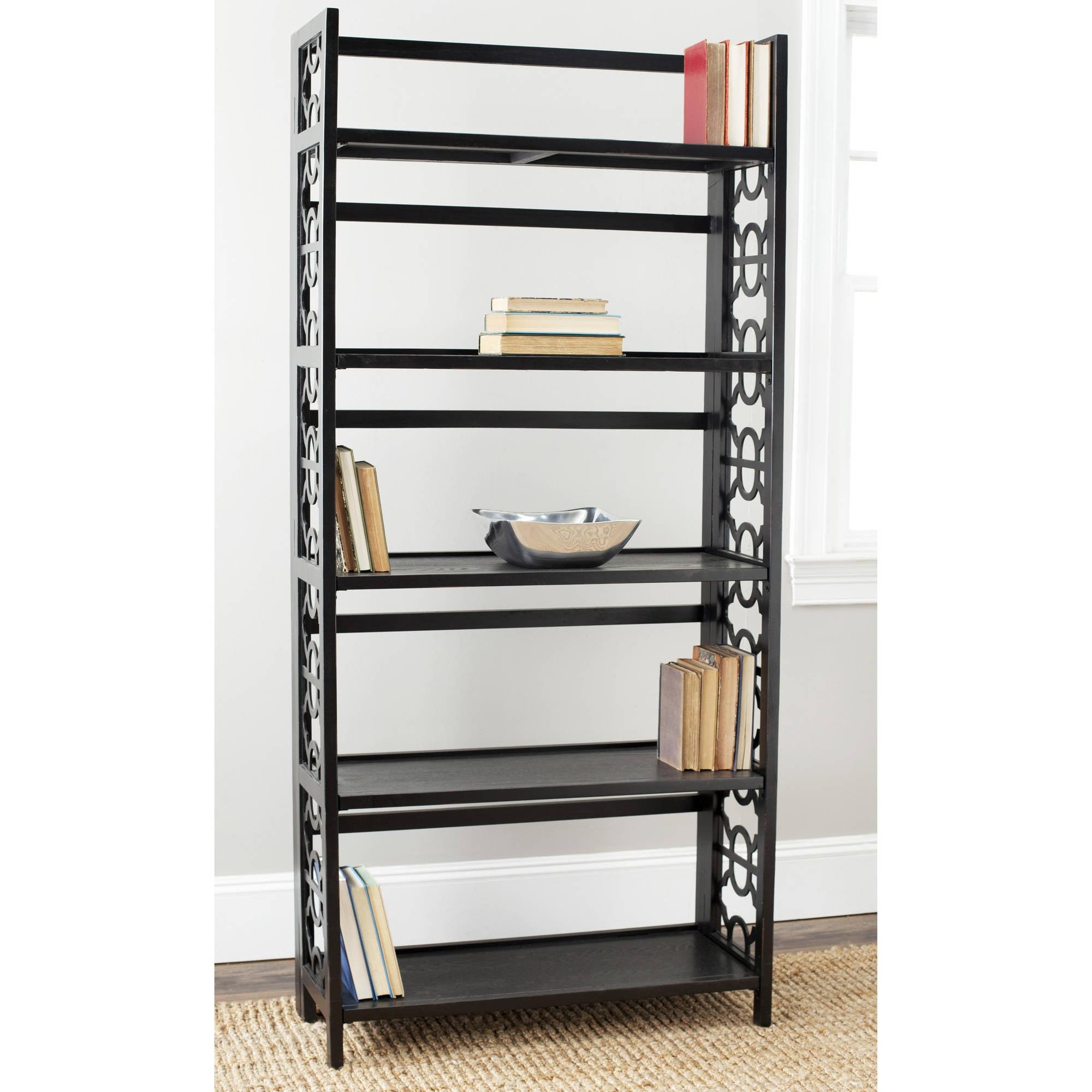 Safavieh Natalie 5-Shelf Tall Bookcase, Black